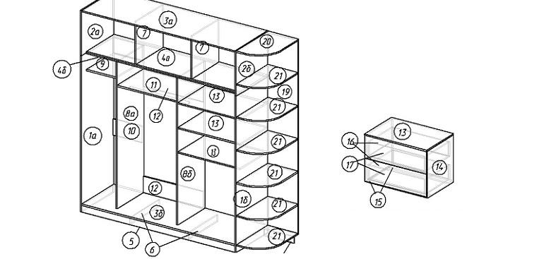 как сделать чертеж шкафа-купе своими руками, советы и рекомендации