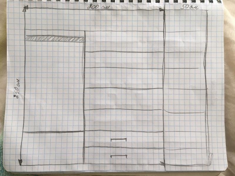 как сделать чертеж шкафа-купе своими руками, эскиз