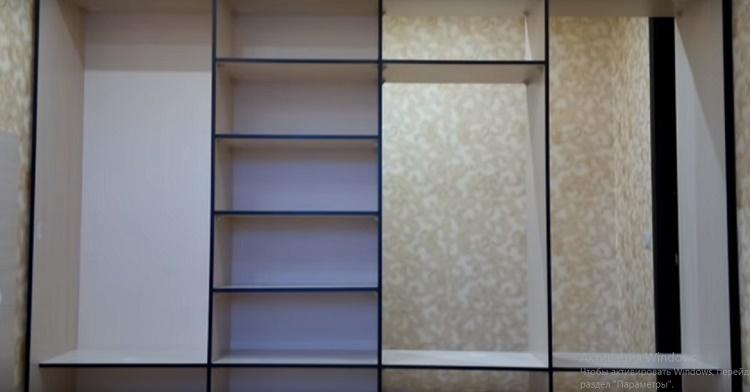 установка задней стенки шкафа-купе