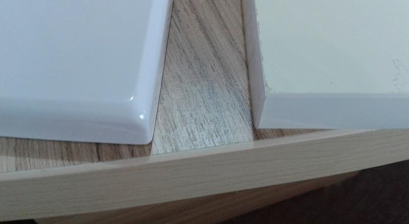 Кромка ПВХ толщиной 2 мм в сравнении с МДФ под пленкой ПВХ и меламиновой кромкой