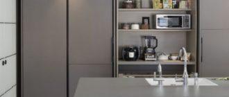 Дуэт кухня шкаф-купе: обзор возможных вариантов с фото
