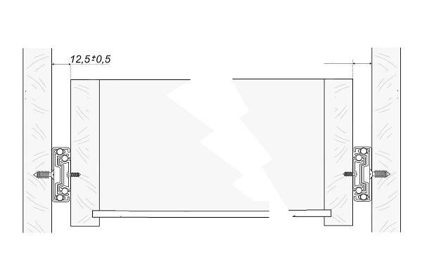 размер зазоров для установки шариковых направляющих на выдвижной ящик