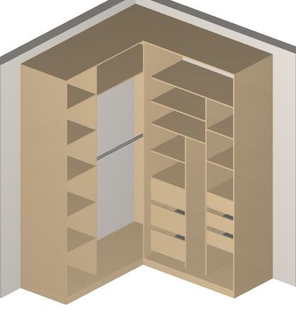 встроенный угловой шкаф купе внутри