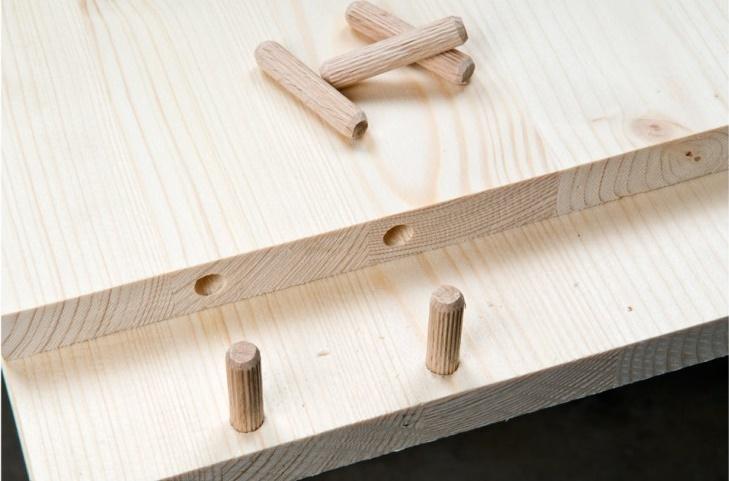 скрытый крепеж лдсп на мебельные шканты