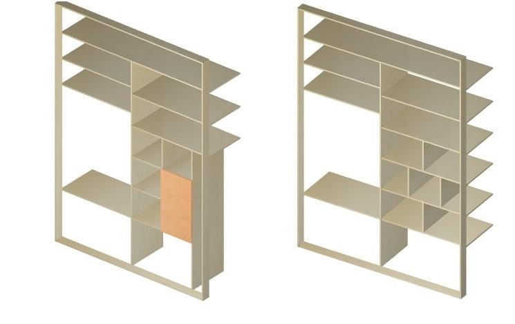 планирование внутреннего наполнения шкафа-купе в спальне