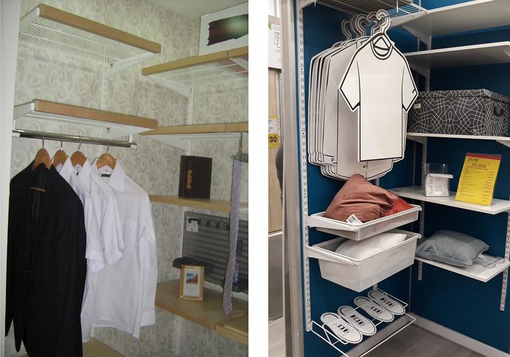 системы хранения для узких гардеробных