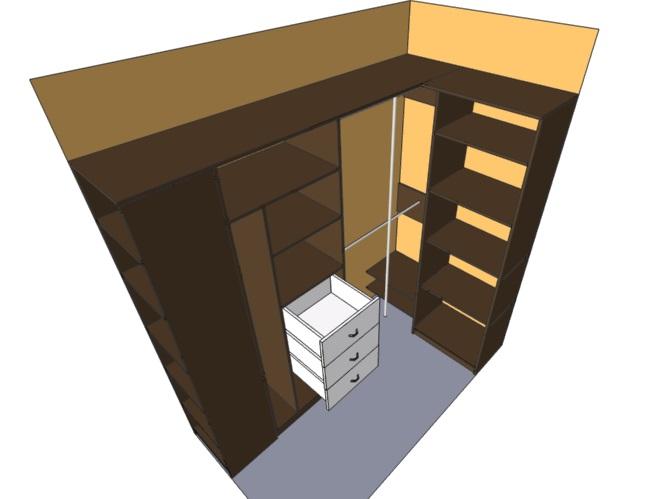узкий коридор кладовка