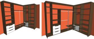 Схемы и чертежи шкафов-купе с описанием пошагово
