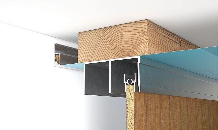 закладная для шкафа-купе под натяжным потолком
