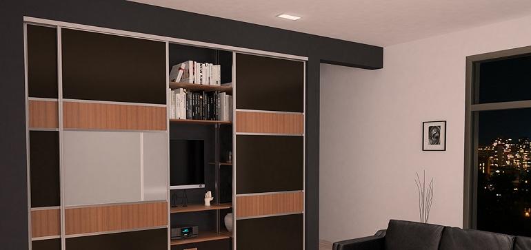 Встроенный шкаф и натяжной потолок – как совместить и что установить раньше